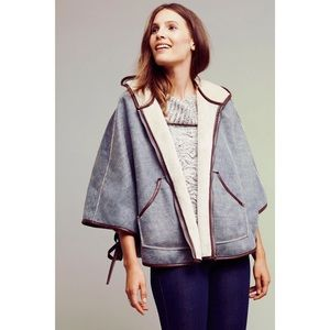 Anthro Reversible Sherpa Lined Cape